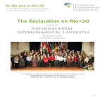 2012 10marzo European Environment Foundation The Declaration on Rio+20
